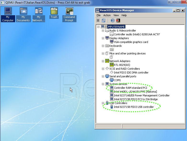 Patch USB per Qemu + Funzionalita' USB Hardware - ReactOS