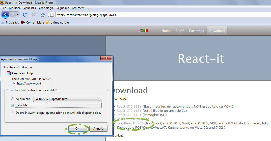 Installing Latest ReactOS build on EasyreactIT Qemu-GUI - ReactOS